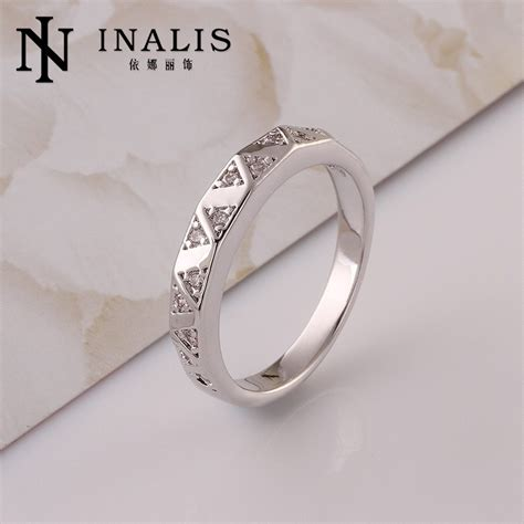 glowing different styles thin finger platinum ring prices