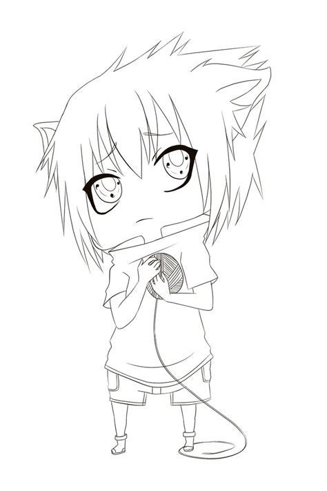 anime naruto coloring pages luiscachog me chibi sasuke lineart by wosda on deviantart