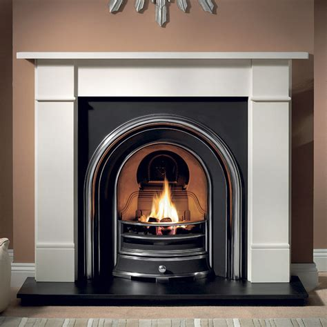 Brompton Limestone Fireplace by Gallery Brompton Fireplace With Jubilee Cast Iron