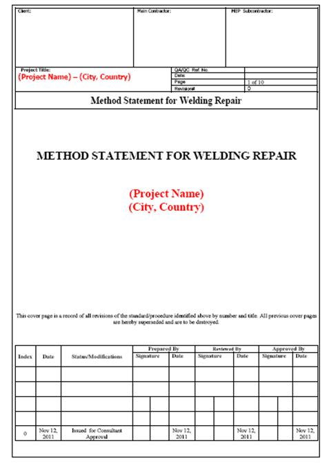 Construction Risk Assessment Template Risk Assessment Report Template Exle 8 Packaging Clerks Weld Repair Procedure Template