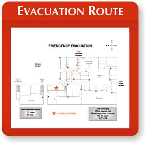 Evacuation Map Holders From Smartsign Emergency Evacuation Route Template