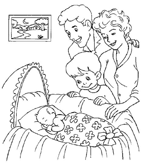 baby with parents coloring pages gt gt disney coloring pages