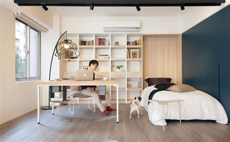 bedroom and office small home with smart use of space taiwan