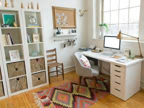 how to decorate an office at home 5 quick tips for home office organization hgtv