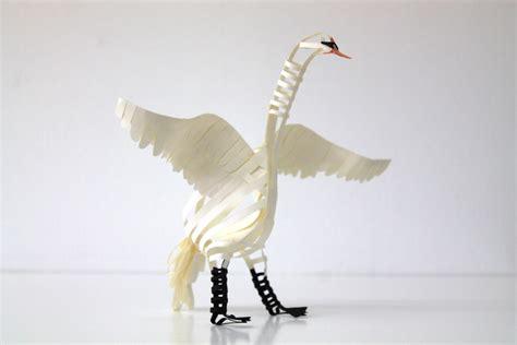 paper bird sculpture 100 beautiful bird sculptures made out of paper