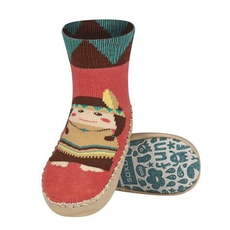 children s moccasin slipper socks soxo children s moccasin slippers soxo socks slippers