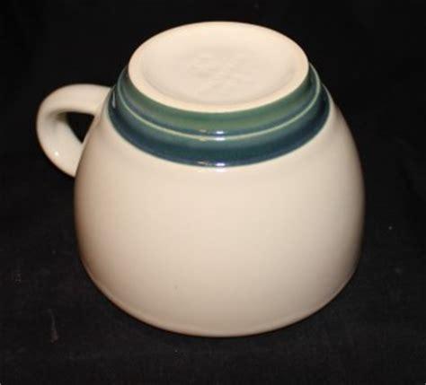 pfaltzgraff pattern blue green stripe pfaltzgraff ocean breeze pattern cup tea coffee mug