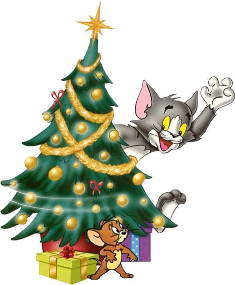 christmas tree with tom and jerry clip art no 235 l