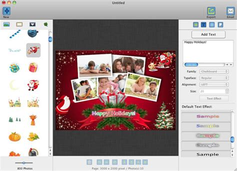 Electronic Christmas Card Templates