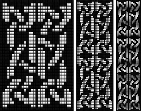 celtic bead patterns celtic knot 3 loom bead patterns