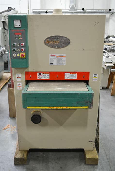 used grizzly g9962zx 24 quot 10hp wide belt sander coast