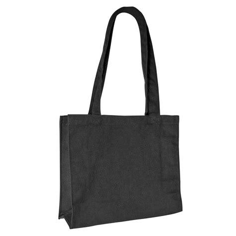 sac en tissu noir 100 coton 32 5x26x10 5 cm lg d anses 59 cm selfor