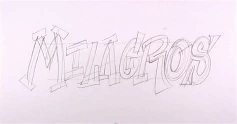 how to draw a doodle names step by step how to draw the word milagros with a pencil step by step