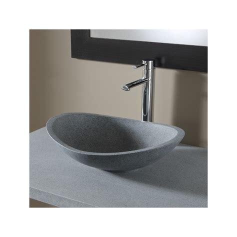 vasque ovale salle de bain vasques en naturelle grise