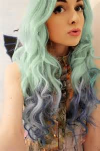 mint color hair best green blue ombre hair dye seafoam mermaid ombre