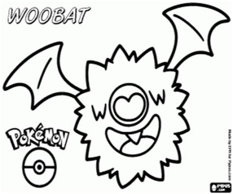 woobat pokemon coloring pages woobat the bat pok 233 mon evolves into swoobat coloring page