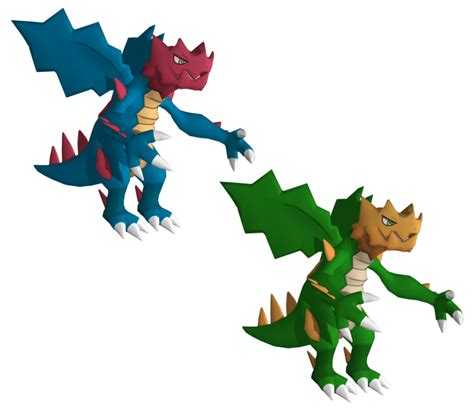 Big Bisharp Figure V 3ds Pok 233 Mon X Y 621 Druddigon The Models Resource