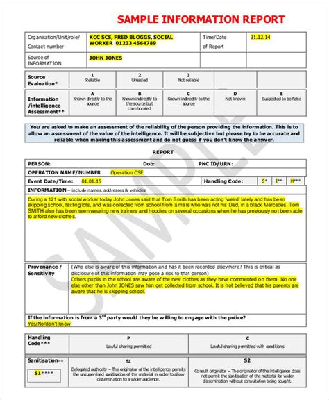 template for information report 9 information report templates free word pdf format