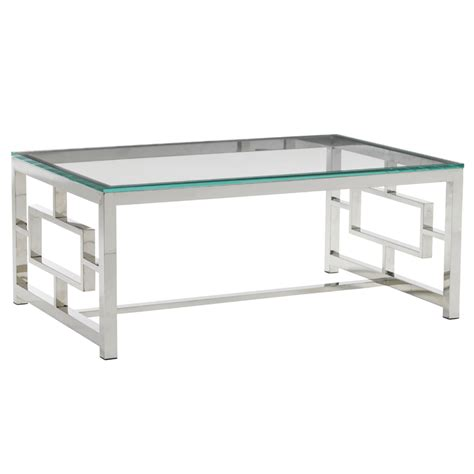 Glass Cocktail Table by Bacall Glass Top Cocktail Table Luxe Home Company