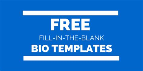 free bio template fill in blank writing tips biotemplates