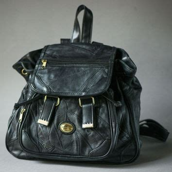 Lettering Faux Leather Backpack best black quilted backpack products on wanelo