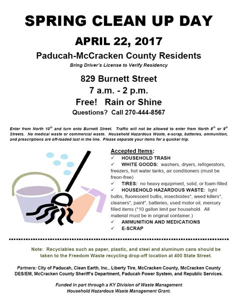 spring cleaning 2017 2017 spring clean up day city of paducah