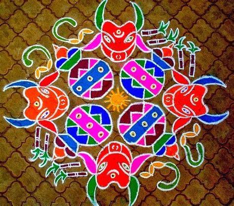 rangoli themes for sankranthi pongal kolam designs simple pongal kolam happy
