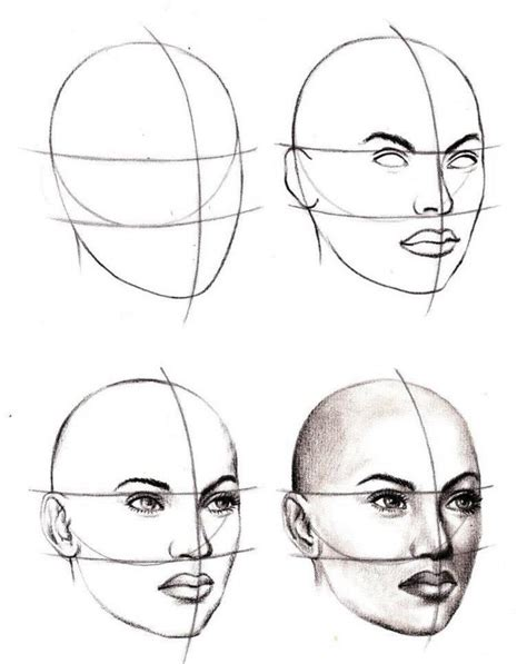 Drawing 3 4 Faces 1000 ideas about drawing tutorials on