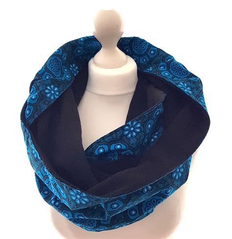 turquoise print snood scarf urbanknit