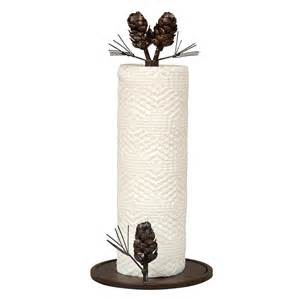 unique paper towel holders woodland pinecone paper towel holder