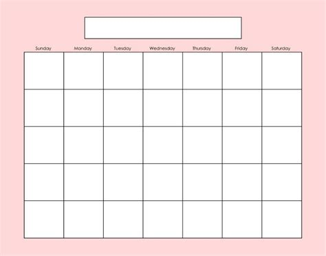 calendar page template blank calendar page fill as needed printables