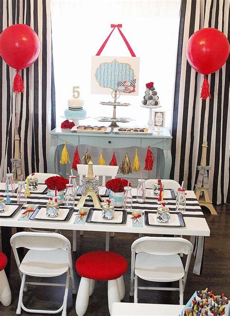 posh parisian puppy party birthday party ideas themes
