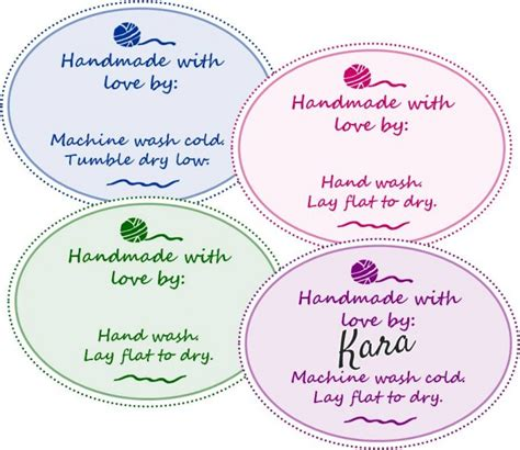 Labels For Handmade Crochet Items - free printable gift tags for your handmade gifts