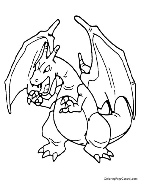 pokemon charizard coloring page 01 coloring page central