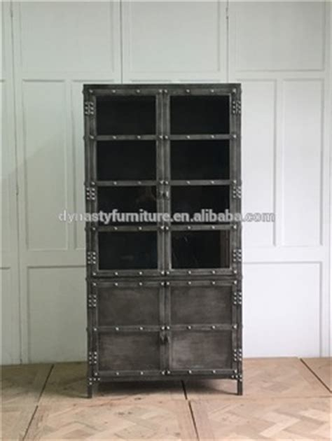 industrial style display cabinet decorative industrial vintage style metal display cabinet