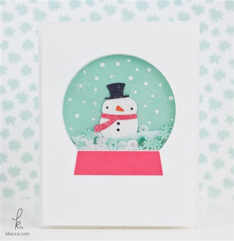 snowman cards to make snowman snow globe shaker card kit die cuts