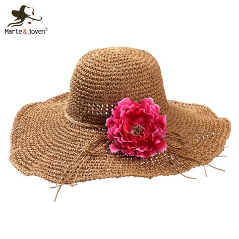 8 Pretty Hats For Summer by 2016 Fashion Wide Brim Floppy Straw Hats Foldable