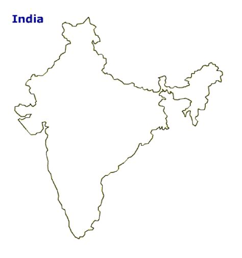 Outline History Of Indian by Map Of India Terrain Area And Outline Maps Of India Countryreports