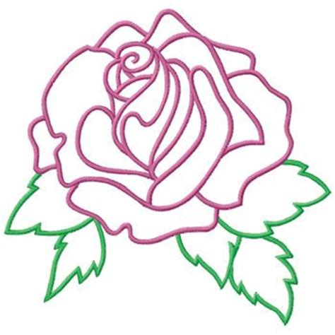 embroidery design outline rose outline embroidery designs machine embroidery