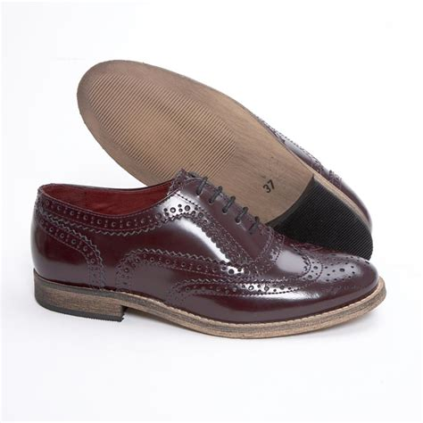 oxford shoes or brogues delicious junction womens leather brogue ox blood
