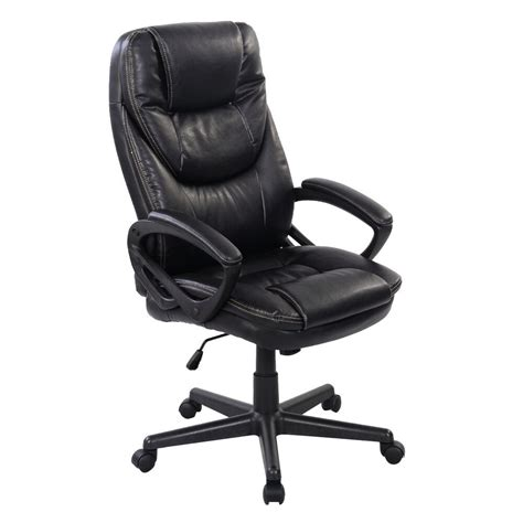 black pu leather high  office chair  task ergonomic computer desk ebay