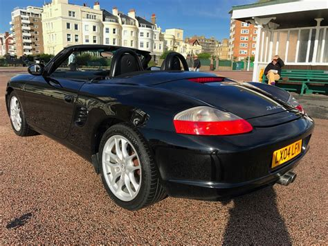 black porsche boxster convertible 2004 porsche boxster convertible black 2 back m cars
