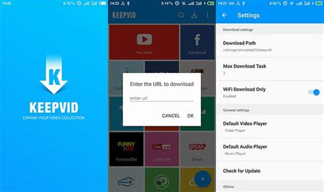 keepvid mobile version on android with downloader app
