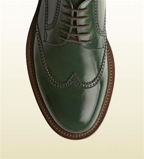 Sepatu Cevany Green Leather inspirasi sepatu kulit manding leather brogues shoes gucci green leather lace up brogue