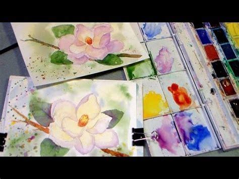 youtube watercolor tutorials magnolia watercolor tutorial youtube