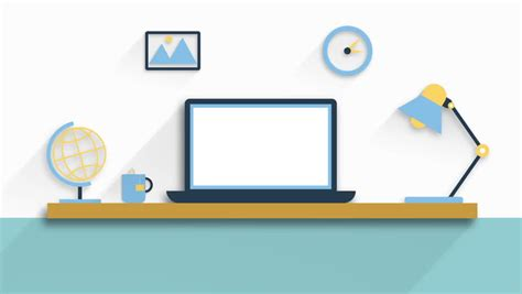 layout department animation desk with laptop and l animation design hd 1080 stock
