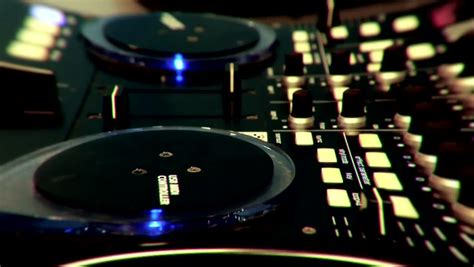 mix table dj timelapse dj using his mixer table sequences in one clip fish eye stock footage