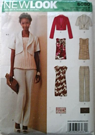 pattern review new look 6080 new look 6080 misses dress pants top jacket clutch