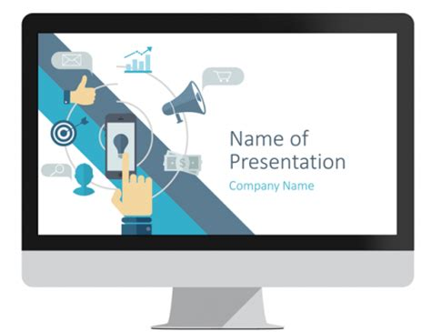 digital marketing powerpoint template presentationdeck