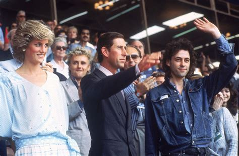 where did princess diana live live aid in photos july 13 1985